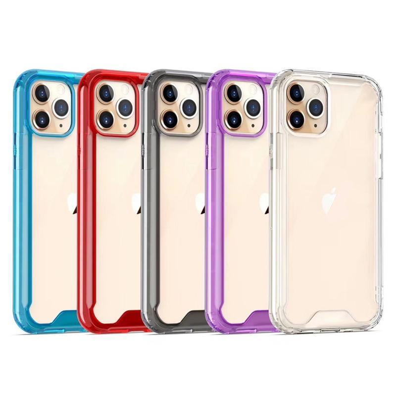 Custodia antiurto Acrilico trasparente TPU PC per iPhone 12 11 Pro Max XR Case Cover XS 8plus del telefono per Samsung Note20 S20 Ultra