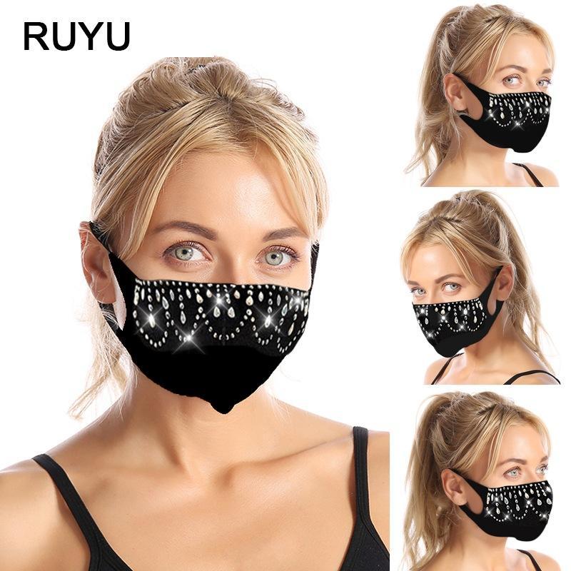 2020Women's Rhinestone Fashionable Face designer Mask designer face masks