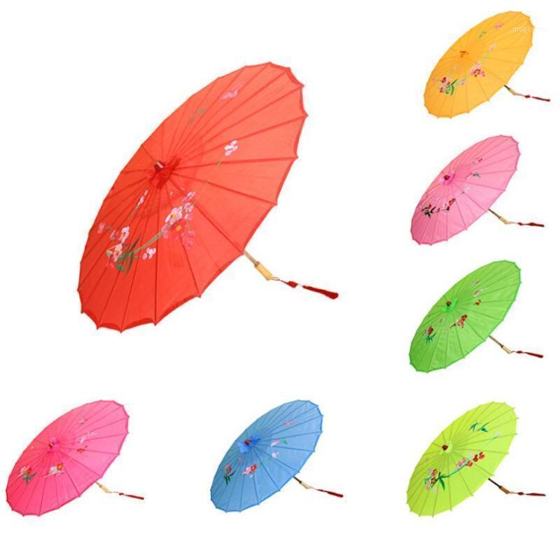 مظلات اليابانية الصينية الشرقية المظلة اليدوية النسيج مظلة ل حفل زفاف حزب الدعائم LX64771