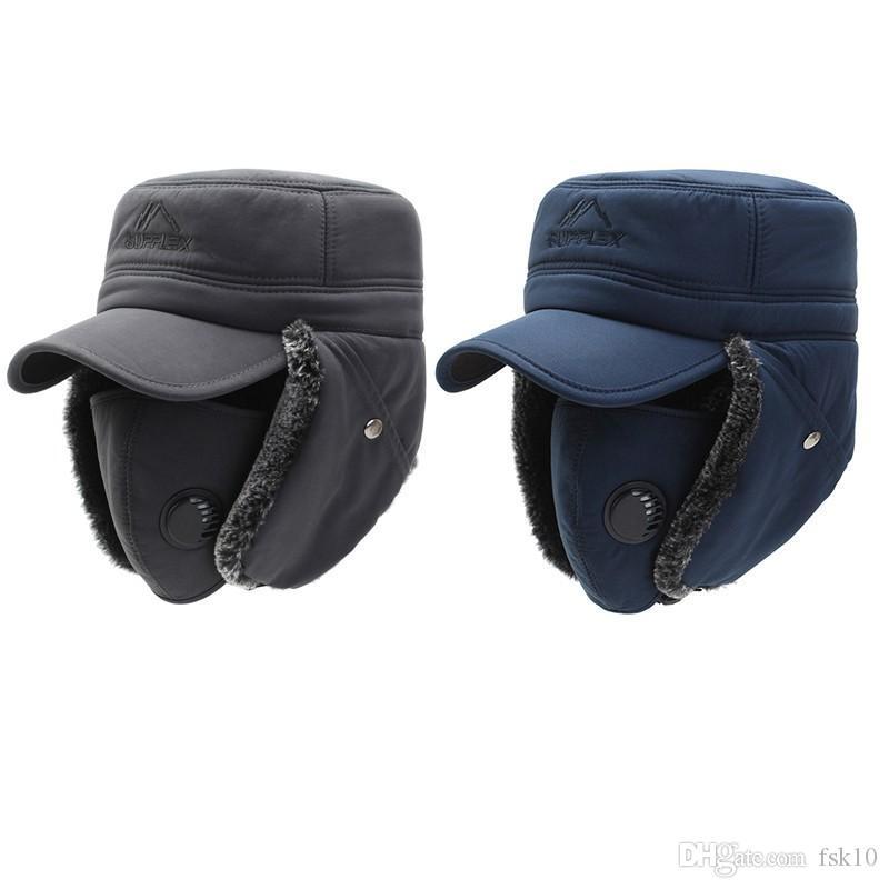 Зима ветрозащитной хладостойкость ухо лоскут теплой шапка маска защита слух Толстых Велоспорты колпачки для охоты на лыжах