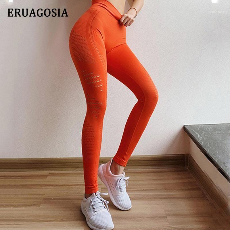 Eruagosia sans soudure de taille haute de yoga pantalon de yoga femme entraînement collants de gymnase d'entraînement maille respirant fitness jambgings sport femme1