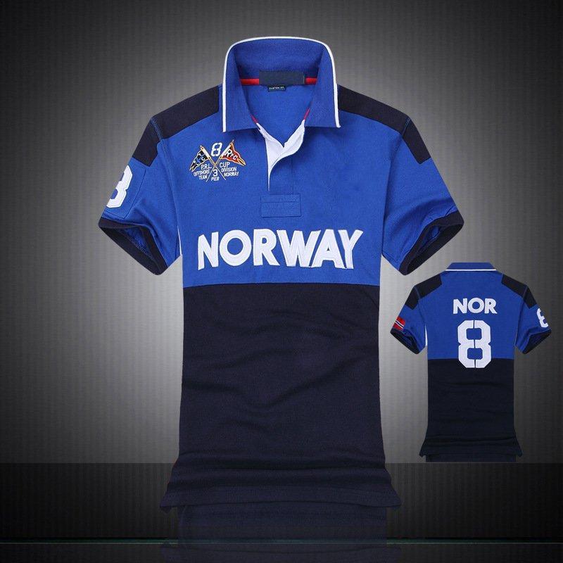 Chemise à manches courtes à manches courtes neuves en coton 100% coton T-shirt National National de haute qualité pour homme