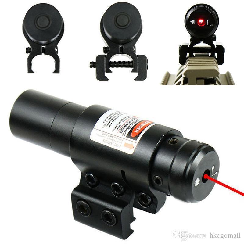 Vista del laser rosso con 20mm / 11 millimetri Slot per montaggio su guida di caccia Airsoftsport Laser Gun vista tattico Huntting Ottica Strumenti