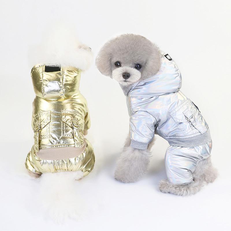 2020 Зимняя мода Pet Одежда для собак теплый пуховик водонепроницаемый пальто S-XXL Толстовки для Чихуахуа Маленький Средний Собаки Щенок