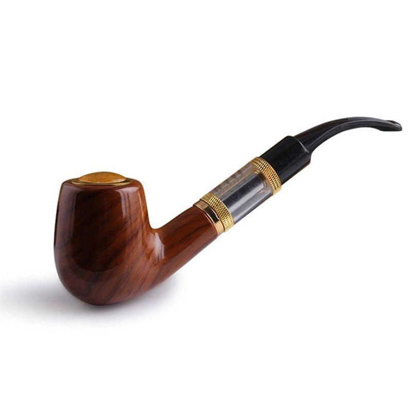 E tubo 618 caneta vapor e-cig vaporizer cigarro eletrônico kit completo imitar sólido design de madeira starter antiquado 18350 atomizador de bateria