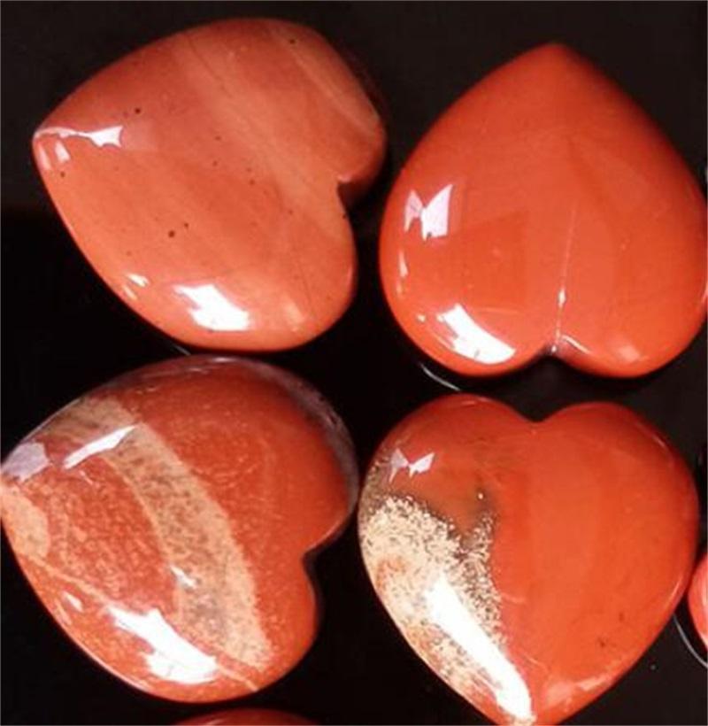 Cristalli naturali a forma di cuore Pietra Semiprecious Ornamenti colorati Decorare la casa Pink Home Womens Arti compatte Artigianato Vendita calda 9tr M2