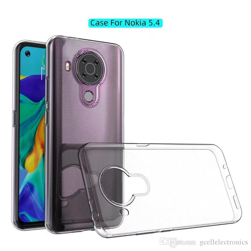 Cas de TPU transparents clairs pour iPhone 12 PRO Nokia 5.4 2.3 Couverture de téléphone portable de gel ultra mince de stylet
