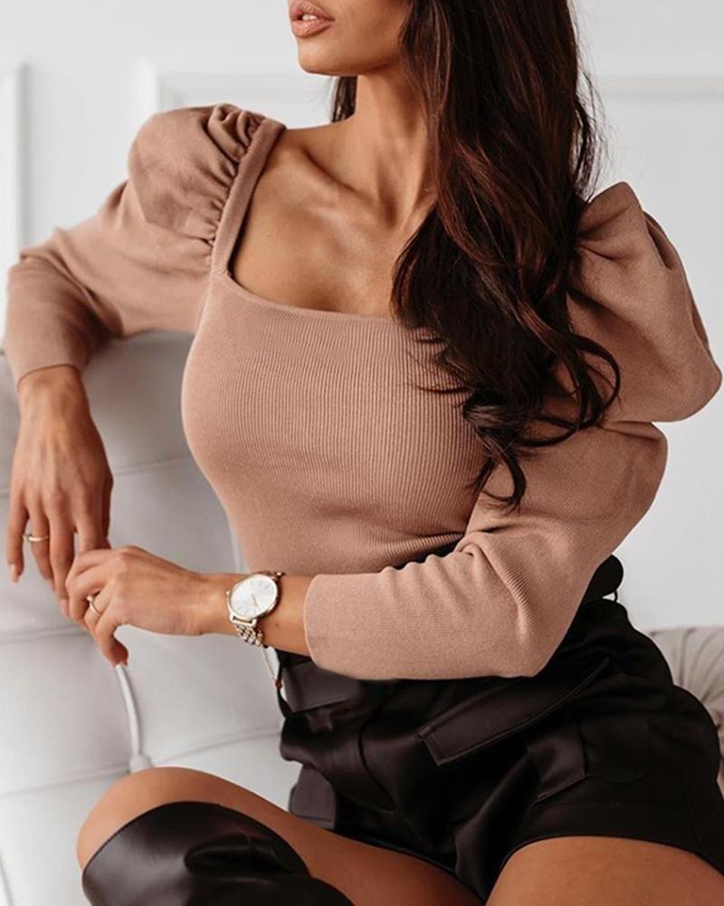 Женские повседневные твердые слойки с длинным рукавом вязаные комбинезоны Топы блузка Slim Fit Bodysuit Clubwear Рубцы Джемпер