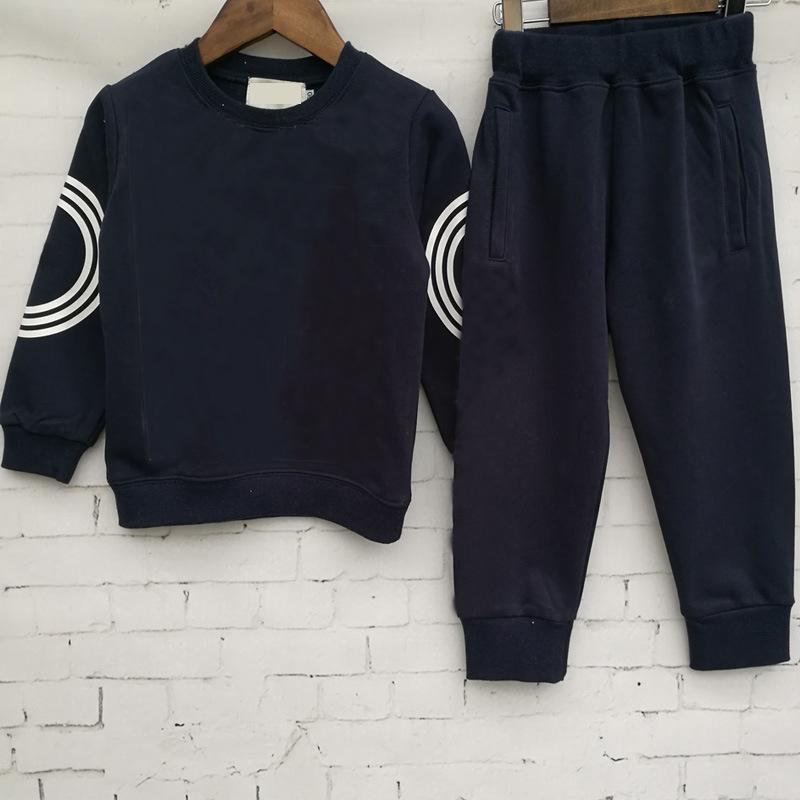 2019 New Classic luxe designer de luxe bébé t-shirt veste pantalons deux-éléments 2-9 ans costume costume des enfants de vêtements de coton 2pcs pour enfants RT