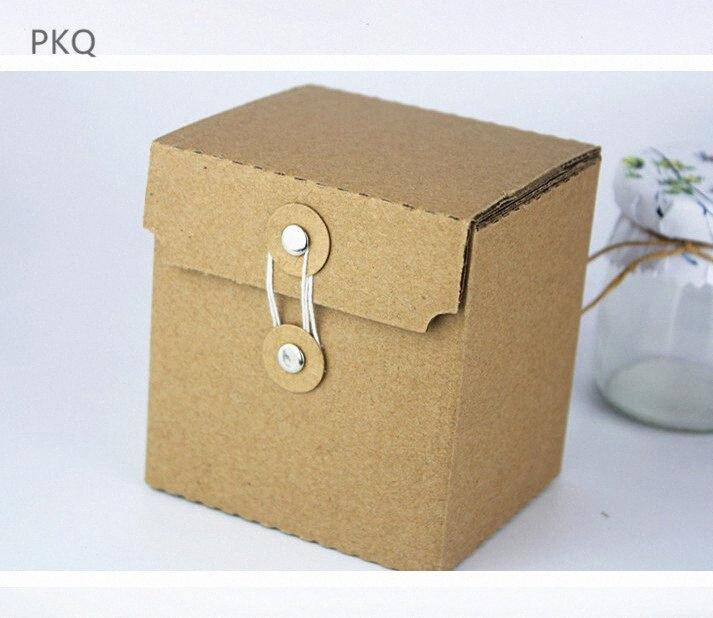 2Pcs Kraft Corrugated Paper Box Glass Cup Express Packaging Box Thicken Gift Small Cardboard Courier Boxes 9x8x10cm Ef8D#