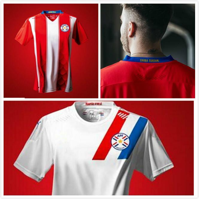 NOUVEAU 2020 PARAGUAY SOCCER JERSEYS 20 21 National Team National Home Camiseta de Fútbol APF Chemise de football pour hommes