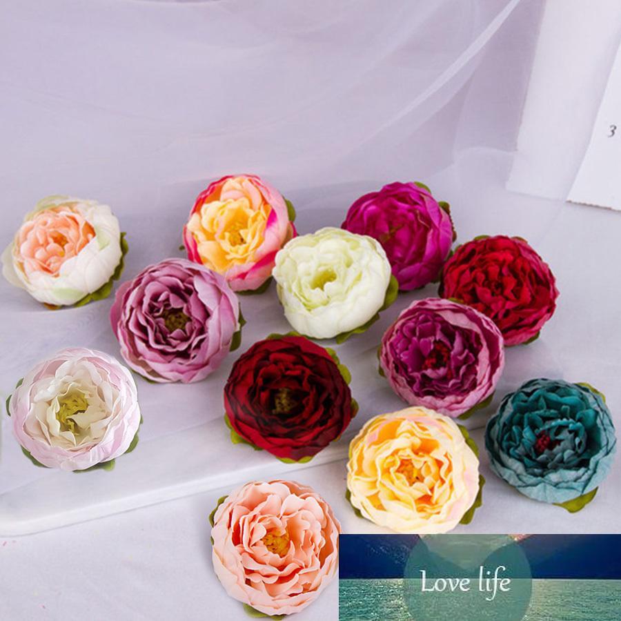 5pcs bricolage Artisanat soie artificielle Pivoine capitules Big Rose Rouge Violet Faux fleurs Mix de soirée de mariage Toile de fond Décoration murale