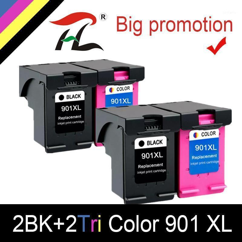 HTL 4PK 901XL чернильный картридж для 901XL CC654 CC656 совместимый 4500 J4540 J4550 J4580 J4600 J4680 струйный принтер1