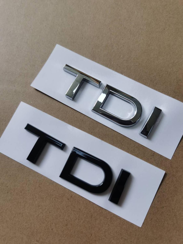 Sticker Emblème arrière ABS TDI ABS TDI 1x Chrome Bromérique pour Audi A1 A3 A4 A5 A6 A6 A7 A7 A8 S3 S6 Q3 Q5 Q7 TT S Rs Rs