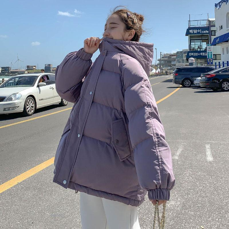 2021 New Winter Jacket Women's Parkas Hooded Bread Service Coat Female Thick Warm Parka Cotton Padded Jacket Outwear Plus Size