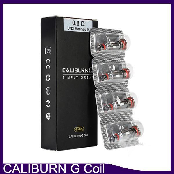 100% originale Caliburn G Coil Mesh 0.8ohm UN2 MESHED-H Sostituzione Pantaloni di ricambio Testa per Caliburn G Kit di sistema Pod 0266326