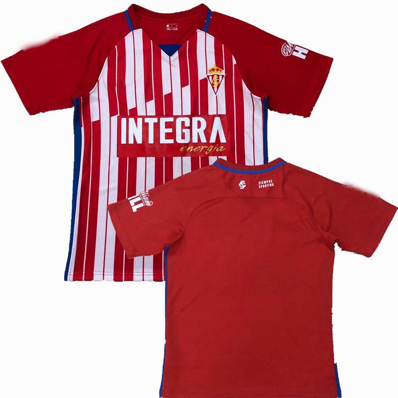 20 21 Sporting de Gijón Maillots de Foot Soccer Jersey Home Away Gijon 2020 2021 Camisa de Fútbol