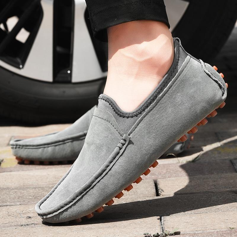 Мужчины Мокасины Мужская мода Обувь Casual Leather лоферы Мужской Flats Man Handmade Driving обуви Мягкая Носок Лодка Большой размер 49