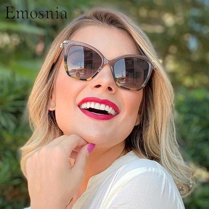 Women 2020 Selling Hot Oversized Large Eye Style Sunglasses Eyewear Italy Retro Emosnia Cateye Sun Cat Shades Glasses UV400 Igopt