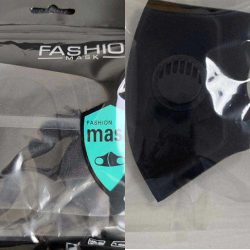 Ткань маска моющийся многоразовый Индивидуальный пакет с клапаном дышащий анти пыли DHL Бесплатная доставка