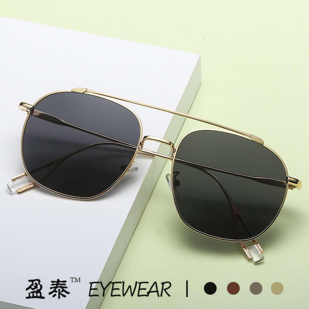 2019 Nuevo GM KUNLLING MISMO BOOGIE Gafas de sol Metal sin marco Poligonal