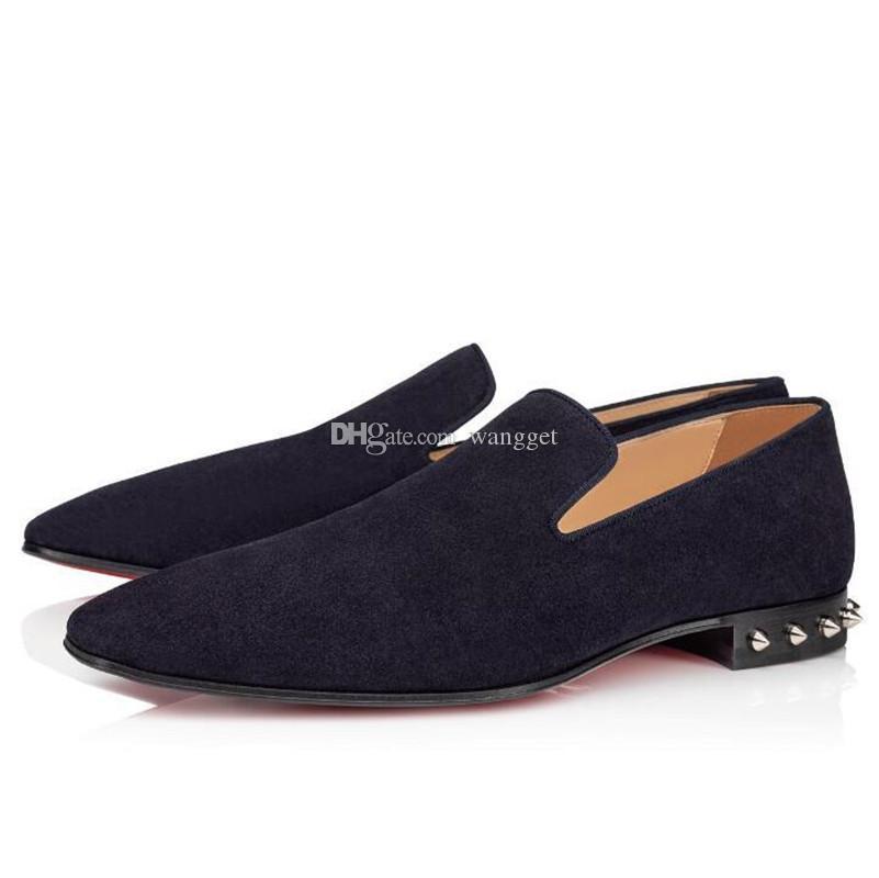 Haute Qualité Gentleman Party Bustsiness Dress Slip sur Mocassins Chaussures Sneaker Dandelion Red Fond Oxford, Loisirs de luxe Loisirs