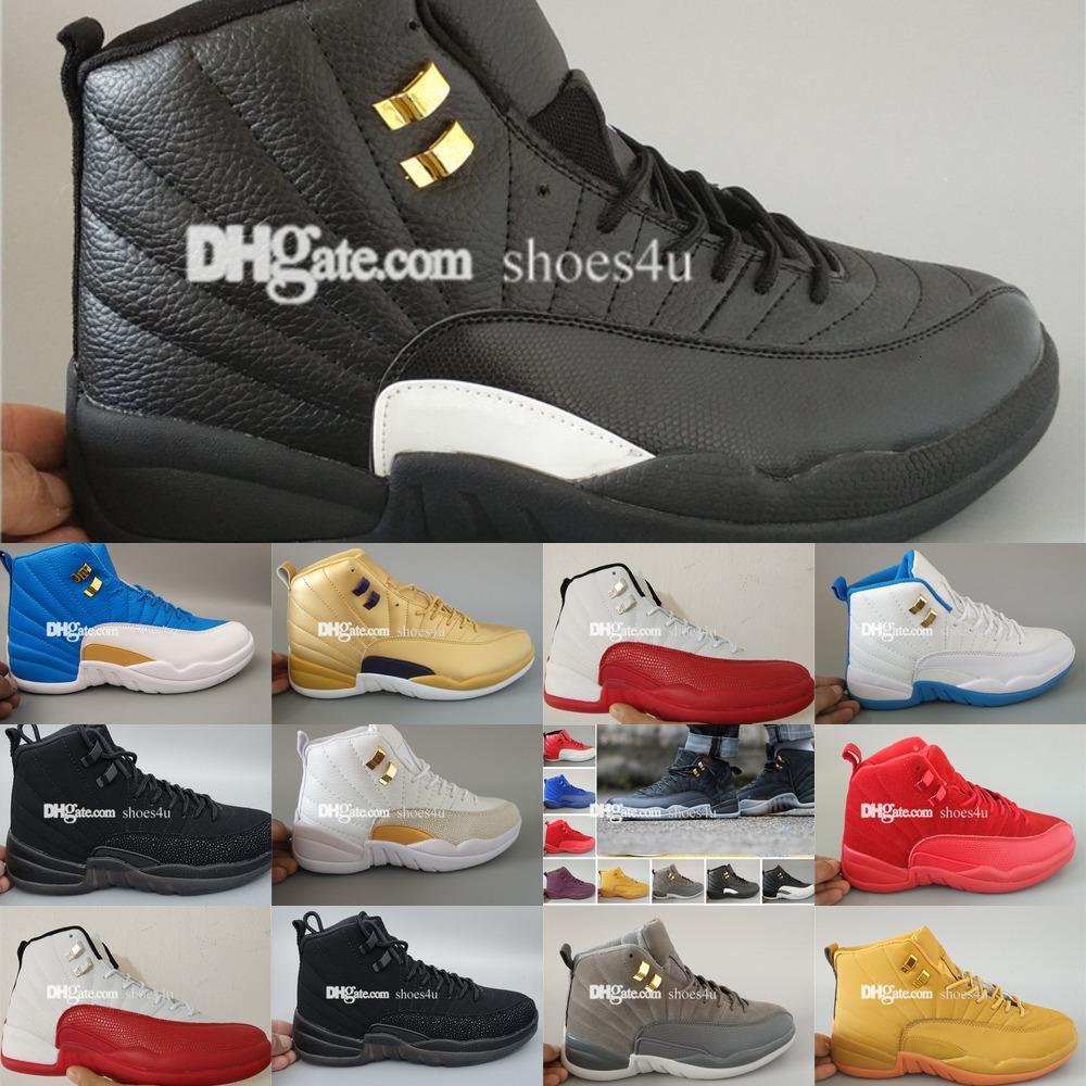 Плей воздуха Mens Basketball обувь черный 12 такси Flu игры черри 12s Xii Мужчины кроссовки Сапоги Свободная ShippingLTT5LTT5LTT5ICN9ICN9ICN9