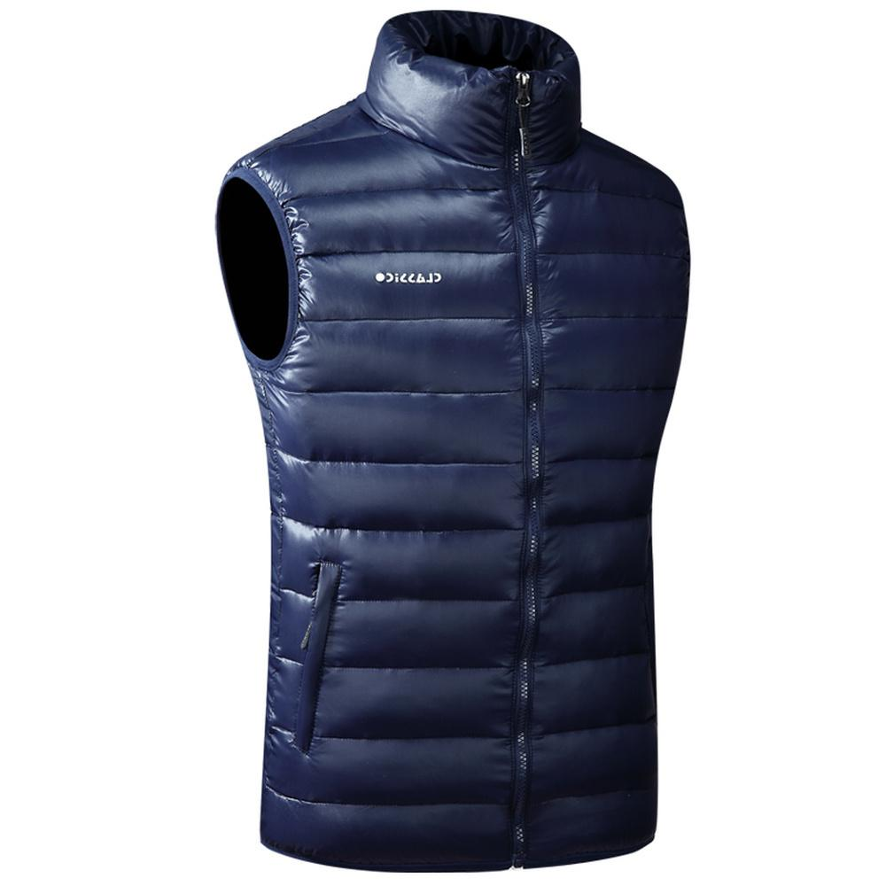 Winter Warm Vest For Men Autumn Casual Male White Duck Down Parka Sleeveless Jacket Varsity Mens Thick Ultralight Waistcoat