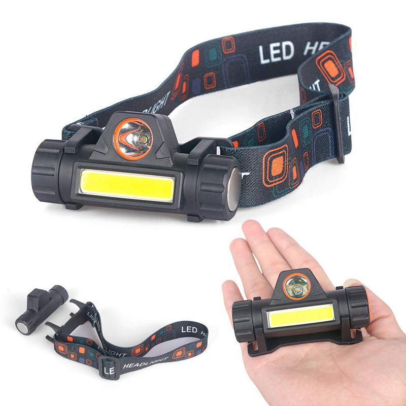 Lampada a testa LED Lampada ricaricabile Forte USB Riding Light Frontale Donna uomo Torcia elettrica da campeggio all'aperto Pesca 7SJ K2