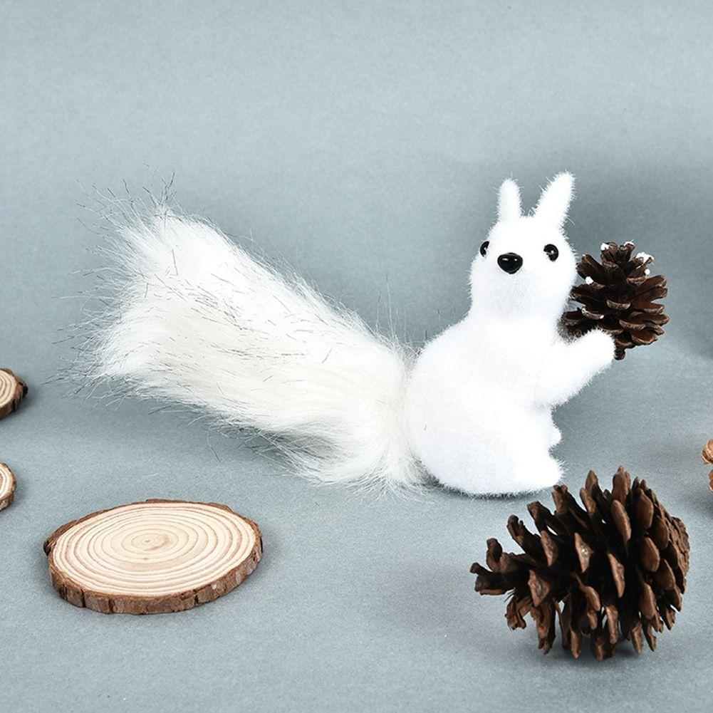 Suministros ornamento de la Navidad del pájaro lindo que cuelga de espuma ardilla Decoración festiva del partido del hogar Animal manualidades