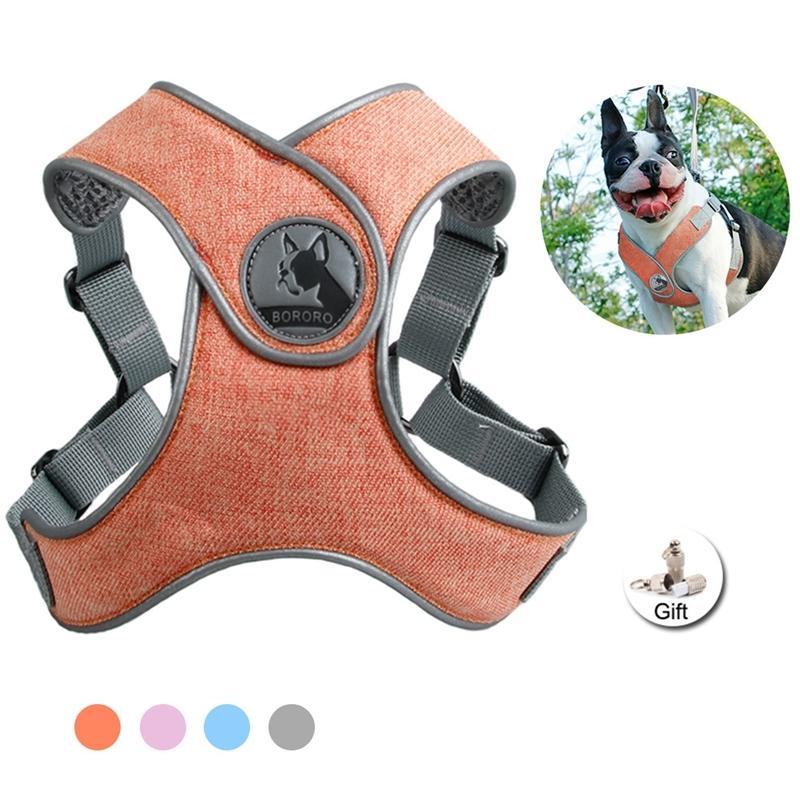Sin tirón Sport Dog Dog Safety Safety Safety X Tipo Mascota Arneses Soft transpirable Malla Chaleco de perro Entrenamiento para pequeños altos al aire libre 201126