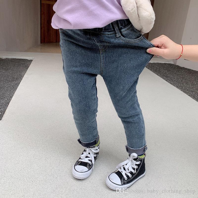 2020 Mädchen Composite Jeans Baby Fall / Winter Hosen Jungen lange Hosen