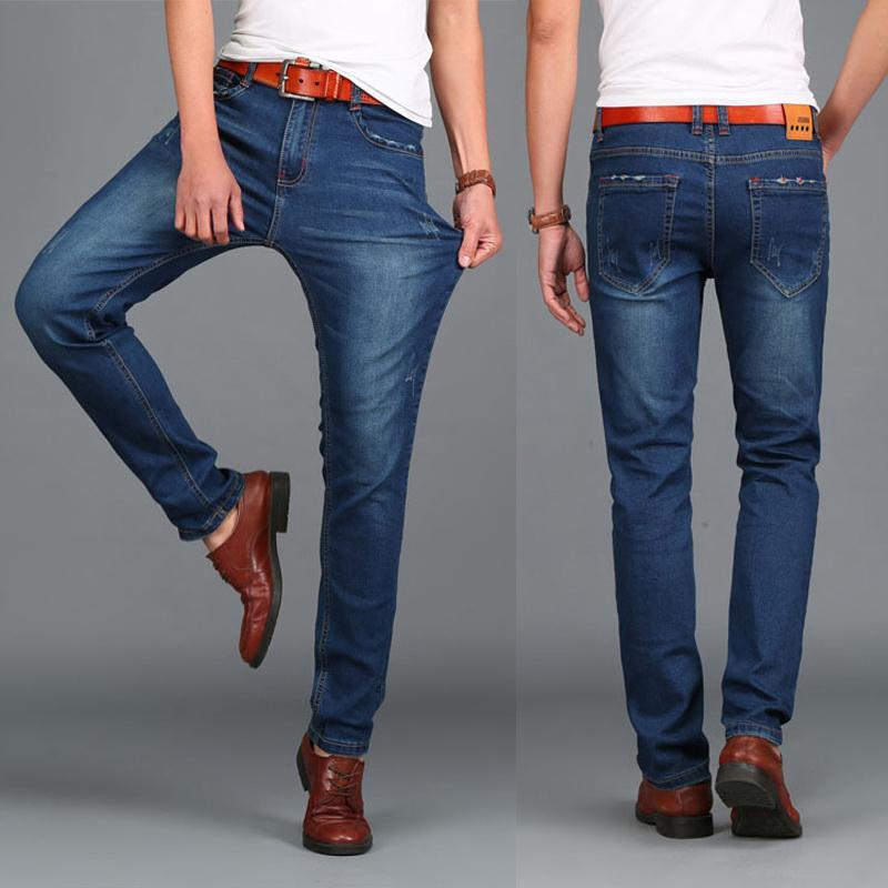 Diseñador de moda para hombres Marca famosa 44 Hight Quality Calca Jeans Masculina Tamanho 46 48 Gran tamaño 2019 invierno