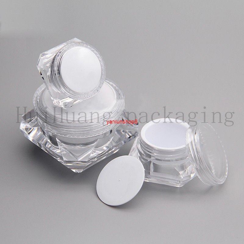 20 pcs 5G 10G 15G, vazio, clara, máscara, máscara, creme, recipientes, caixa, garrafas plástico, frascos, para, embalagem cosmética, vazio, tingood, pacote