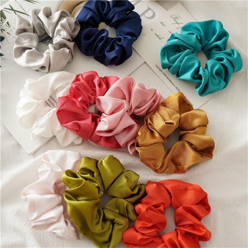 Чистый шелковый эластичный элемент для девочек конфеты цветные принцессы волосы дети эластичный хвостный держатель Держатель дизайнер женские повязки 319 к2
