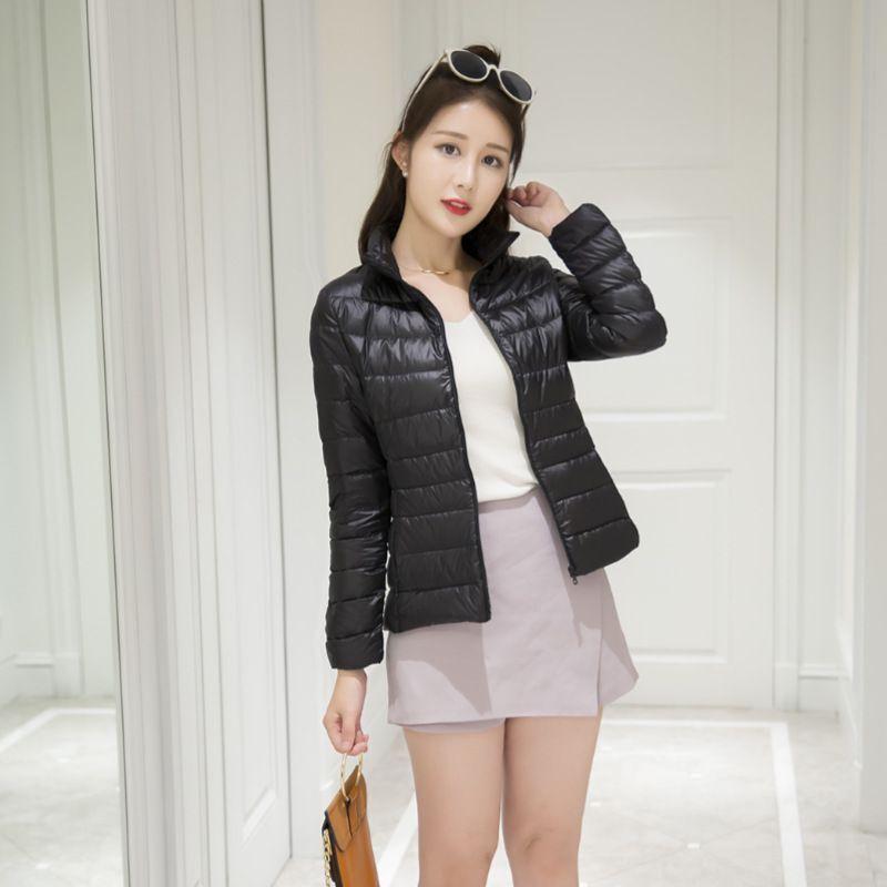 Aşağı Kapşonlu Ceketler Uzun Kollu Sıcak Coat Parka Kadın Taşınabilir OUTWEAR Duck Kış Kadınlar Ultralight ThinWhite