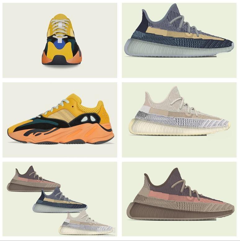 Erkek Bayan Spor Ayakkabı 2021 Kanye West Sun Yecoraite Resmi Dükkan Yeni Işık Yansıtıcı Rahat Spor Sneakers Kayak Çizmeler Ayakkabı Boyutu 36-48