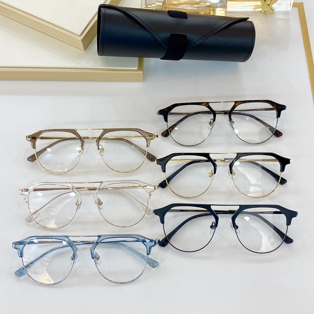 """2021 جديد كلاسيكي بسيط الأزياء نصف إطار نظارات لوحة المواد والنساء نفس النظارات نمط الأزياء X412 حجم 52 """"18"""" 148"""