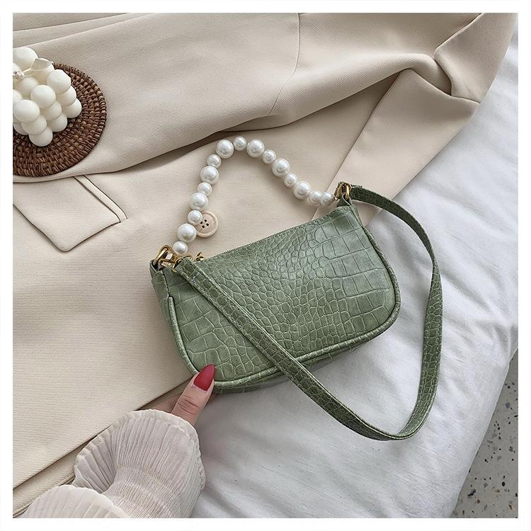 03Z8H Summer women 2020 small Korean Pearl Small new messenger of versatile shoulder version bag net red pearl portable one texture underarm