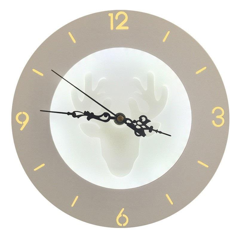 Nordic minimalist creative led clock wall lamp living room bedside bedroom aisle room night light decorative lighting lamps R82