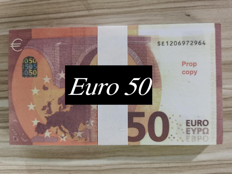 Drucken Prop Voll 2-seitig Realistische Stacks, das sieht Echt für Film, Bar-Geburtstags-Party 50 10 20 Euro E512