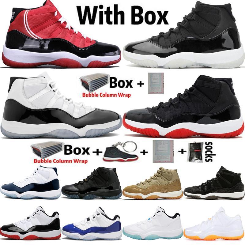 2020 Jumpman Haut Bas 11 11s 25e anniversaire UNC Hommes Femmes Chaussures de basket Concord 45 23 Bred Wmns sport Baskets Sneakers Taille 36-47