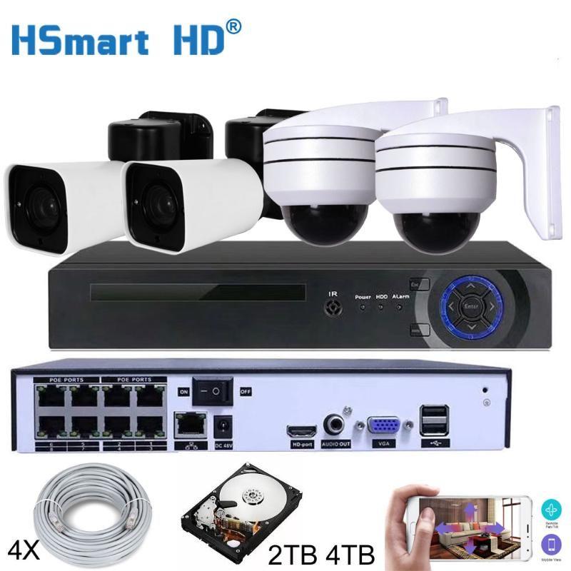 8CH HD NVR 4TB H.265 PTZ 5.0MP POE 4X تكبير نظام CCTV كاميرا IP في الهواء الطلق الأمن مراقبة فيديو مجموعة في الهواء الطلق مقاوم للماء