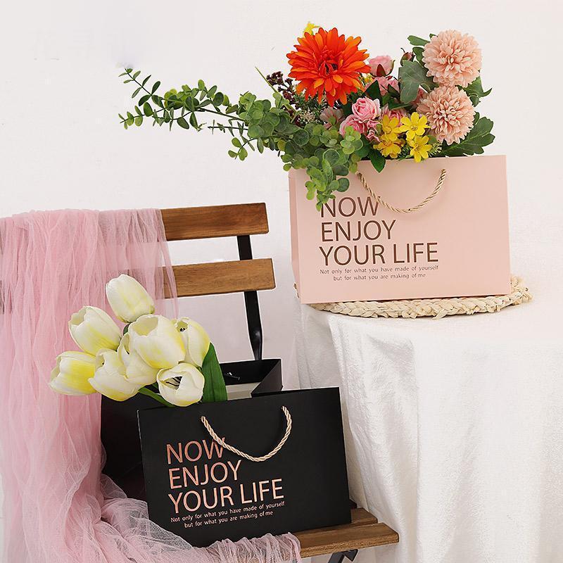 3 pçs / set flor de flor valentines dia sacos de presente embrulhar caixa de presente de aniversário embalagem para festival de casamento suprimentos1