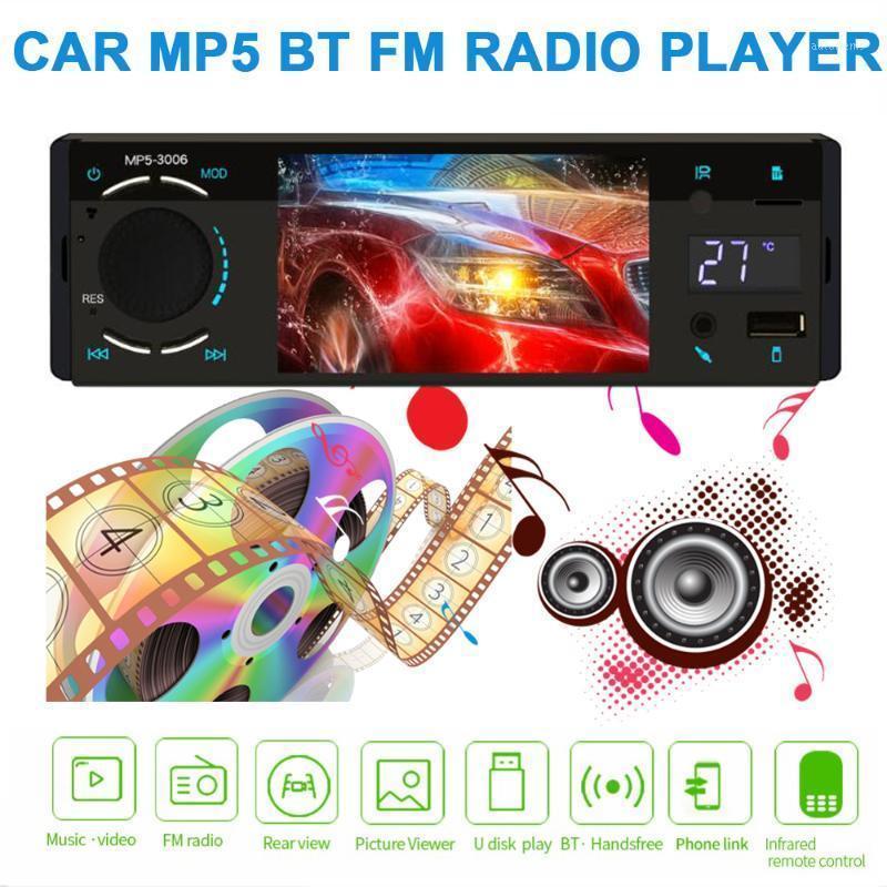 1 DIN CAR MP5 Player FM Radio Autoradio Bluetooth Player multimedia USB AUX AUX Soporte de inversión Control de volante 1