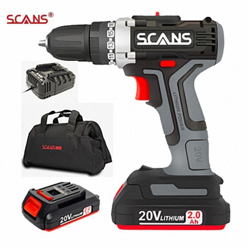 SCANS SC1180professional инструмент 20В Аккумуляторный электрический Отвертка аккумуляторная дрель литиевая батарея Dual Speed LAM1 #