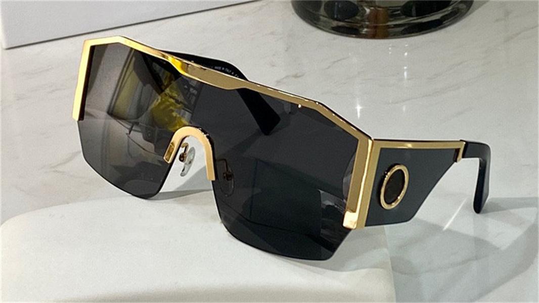 New Fashion Sunglasses 2220 Big Frame Lens Collegato Design Protettivo occhiali protettivi popolari Avangarde in stile Top Quality UV400 Goggle protettivo