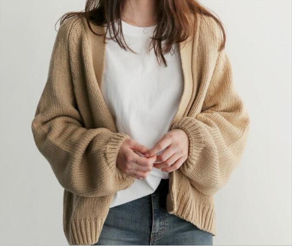 착실히 보내다 니트 새로운 여성 여자 겨울 전체 슬리브 니트 코트 가디건 스웨터 짧은 코트는 캐주얼 느슨한상의 점퍼 니트