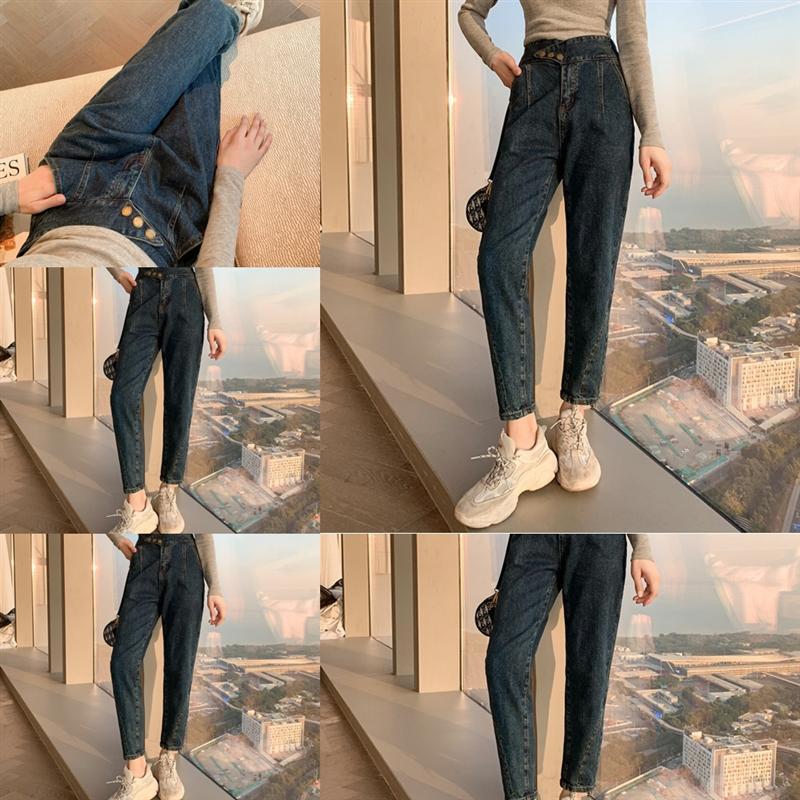 W4ac mode décontracté jeans femmes maman jeans pantalons boyfriend pour femmes dames pantalons de taille moyenne stretch skinny push up dame flare