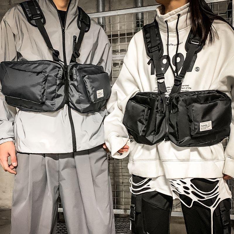 HBP Yelek Çanta İşlevsel Taktik Erkekler Hip-Hop Teçhizat Koşum Göğüs Streetwear Titfg